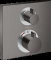 Hansgrohe 15714340 Ecostat Square Douchemengkraan thermostaat afbouwdeel 2 functies Brushed Black Chrome