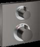 15714340 Hansgrohe Ecostat Square Douchemengkraan thermostaat afbouwdeel 2 functies Brushed Black Chrome