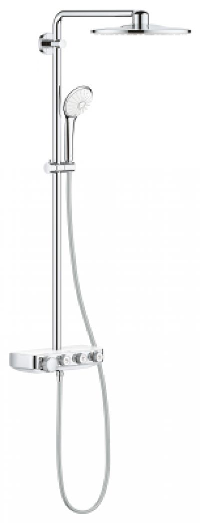 Grohe 26507LS0 Euphoria SmartControl System 310 Duo Douchesysteem met Thermostaatkraan Moon White