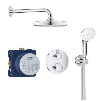 Grohe 34727000 Grohtherm Perfect shower set met Tempesta 201 Chroom