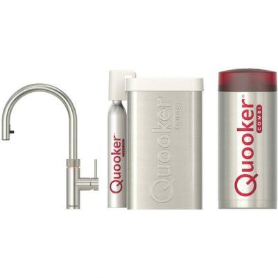 Quooker Flex met COMBI+ kokendwaterreservoir en CUBE reservoir RVS
